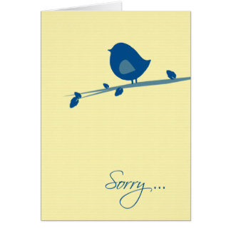 Sorry to Hear about Your Loss-Bird on Tree Branch Greeting Card