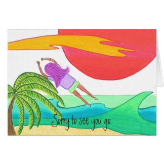 Sorry to see you go. greeting card
