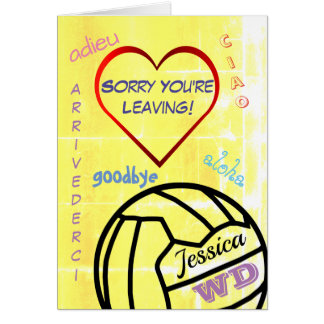 Sorry You're Leaving Netball Personalized Card