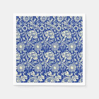 Sorta Blue Calico Paper Napkins