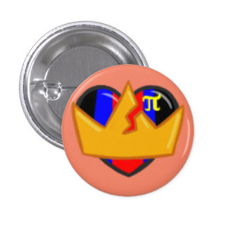 sortaPOLYAMOROUS 1 Inch Round Button