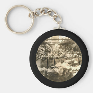 Sorting the Mail England WWII Basic Round Button Keychain