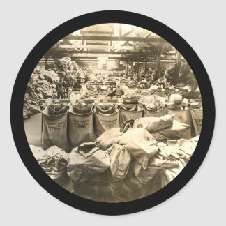 Sorting the Mail England WWII Round Sticker
