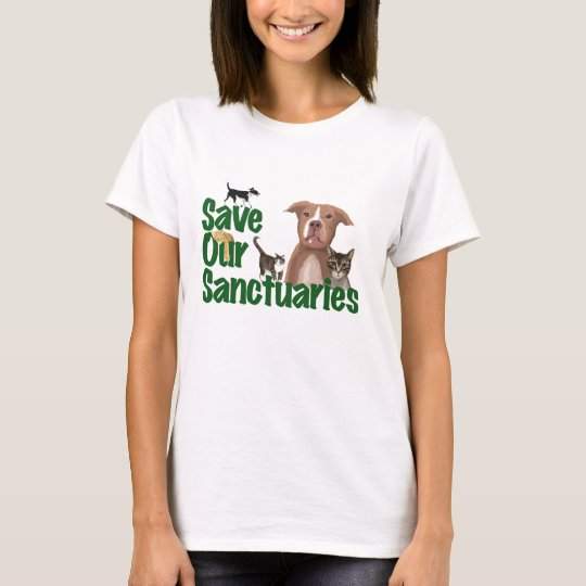 SOS Dogs & Cats Ladies T-Shirt