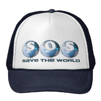SOS Save the world Trucker Hat