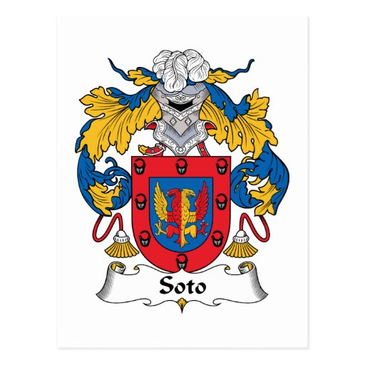Soto Family Crest Post Card