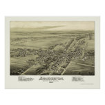 Souderton, PA Panoramic Map - 1894 Poster