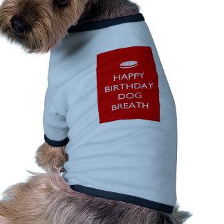 Souffle de chien de joyeux anniversaire manteau pour animal domestique