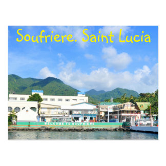 Soufriere Saint Lucia Postcard