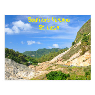 Soufriere Volcano in St. Lucia Postcard