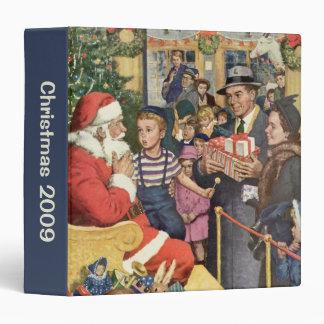 Souhait vintage de Noël, garçon sur le Classeur Vinyle