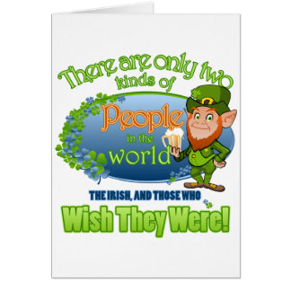 Souhait vous étiez des Irlandais Ver 2 Carte De Vœux