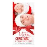 Souhaitez-vous une photo de couples de vacances de cartes de vœux avec photo