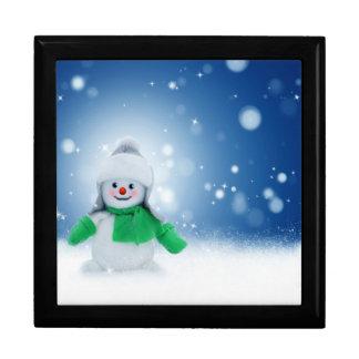 Souhaits de bonhomme de neige boîte à souvenirs