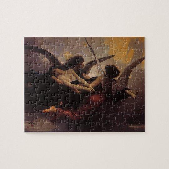 Soul Brought to Heaven by Bouguereau, Vintage Art Jigsaw Puzzle