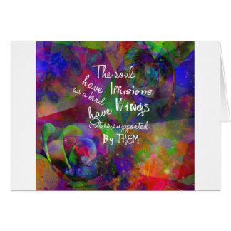 Soul have wings as bird card