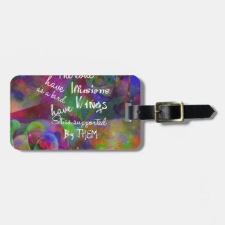 Soul have wings as bird luggage tag