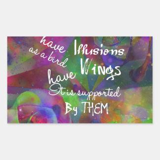 Soul have wings as bird sticker