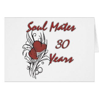 Soul Mates 30 Years Card