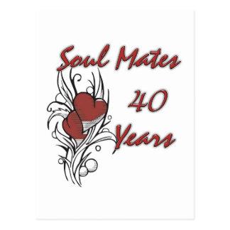 Soul Mates 40 Years Postcard