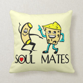 Soul Mates Mac N Cheese Throw Pillow
