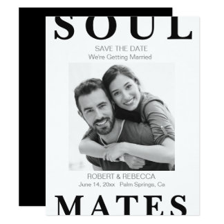 Soul Mates Save the Date Card