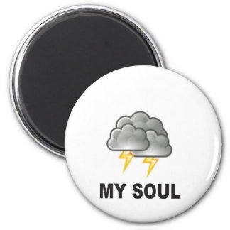soul my storms 2 inch round magnet