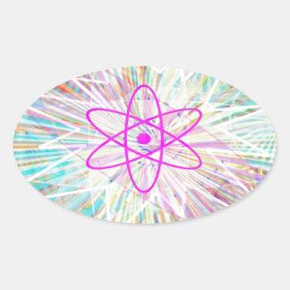 Soul Power : Solar Energy Artistic Design Oval Sticker