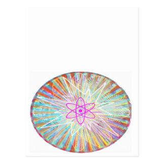 Soul Power : Solar Energy Artistic Design Postcard