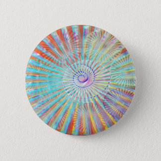 Soul Power - Solar Energy Light Shade Waves 2 Inch Round Button