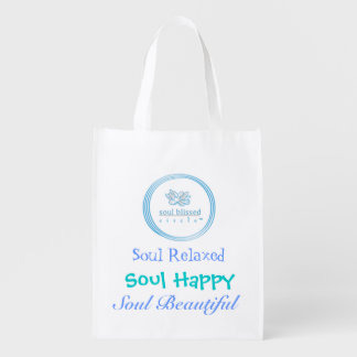 Soul Relaxed, Soul Happy, Soul Beautiful Reusable Grocery Bag
