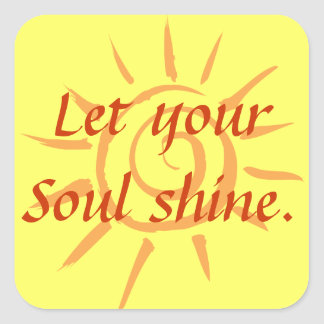 Soul Shine Square Sticker
