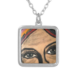 Soulful Eyes Silver Plated Necklace