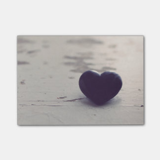 Soulful Purple Stone Heart on a Sandy Beach Post-it® Notes