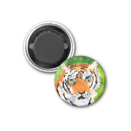 Soulful tiger round magnet