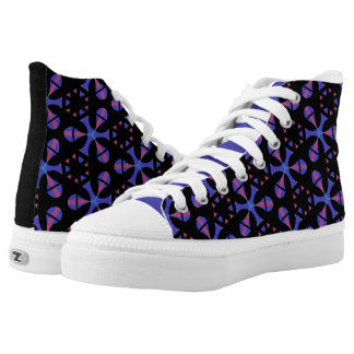Souliers sneakers Jimette Design blue pink black