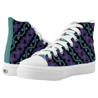 Souliers sneakers Jimette Design green purple.