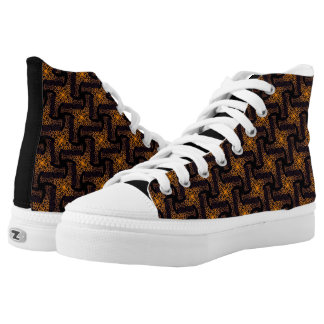 Souliers sneakers Jimette Design orange and black
