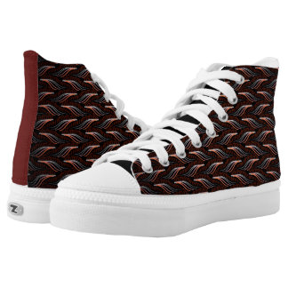 Souliers sneakers Jimette Design red and black