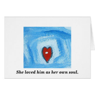 SOULMATES IN DEATH GREETING CARD
