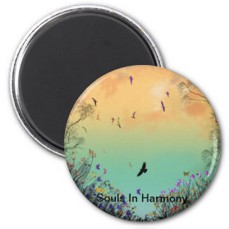 """Souls In Harmony""* 2 Inch Round Magnet"