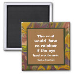 souls & rainbows proverb refrigerator magnet