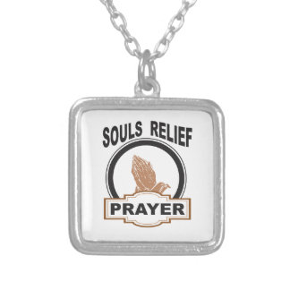 souls relief silver plated necklace