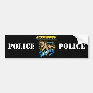 Soumission de la police K9 Autocollant De Voiture