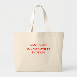 sound advice tote bags