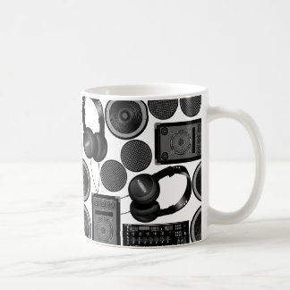 Sound and subwoofer speakers coffee mug