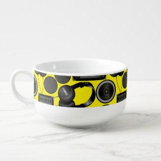 Sound and subwoofer speakers soup mug