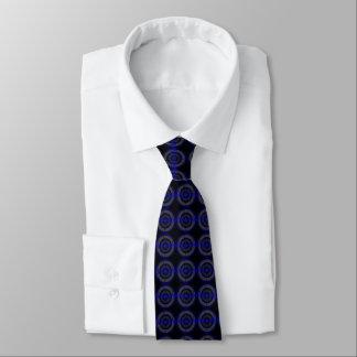Sound Blue Dark tie tiled black