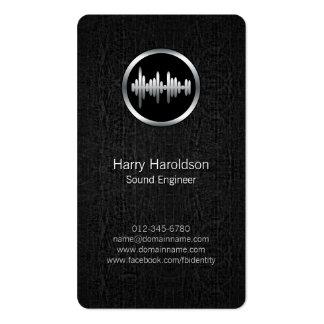 Sound Engineer Sound Wave BlackGrunge BusinessCard Business Card