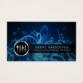 Sound Equipment Rental Volume Slider Business Card